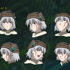 Design for Tsukasa's facial expressions.