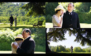 Downton Abbey Lady Mary and Mr. Carson garden party 1914