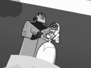 S01e08 Jack and Maddie wedding photo
