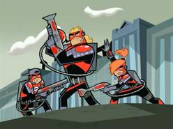 S03M04 Masters' Blasters strike a pose