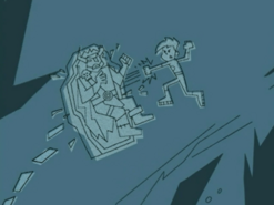 S03e02 Danny defeats Ghost King carving