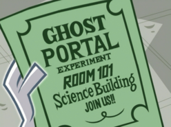 S02e16 Ghost Portal experiment flier