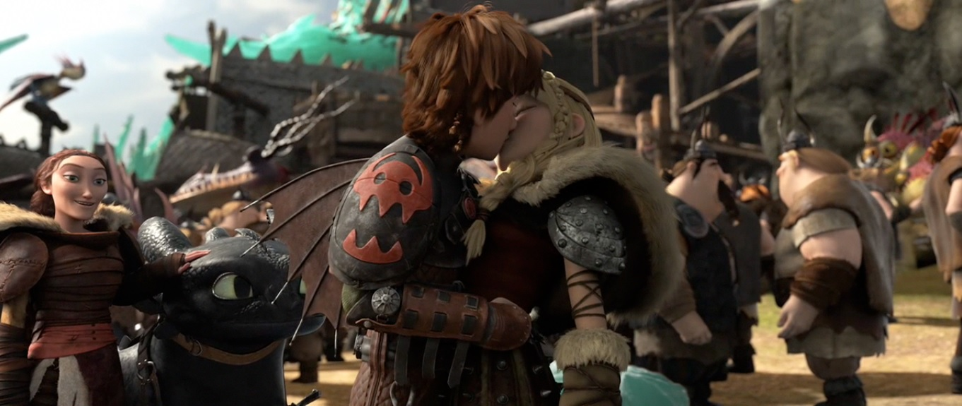 Bild astrid and hiccup kissing for Naked moving pictures