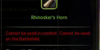 Rhinosker's Horn