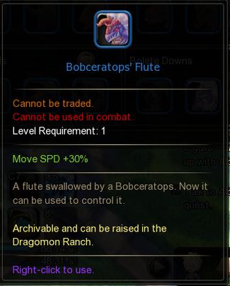 Bobceratop's Flute