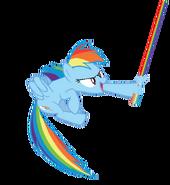 Rainbow (weilding her Lightsaber)
