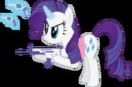 Rarity with her Guns