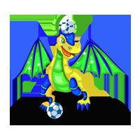 Soccer Dragon Statue