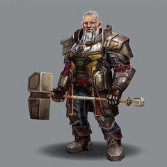 Concept art of Lord Pyral Harrowmont in <i>Heroes of Dragon Age</i>