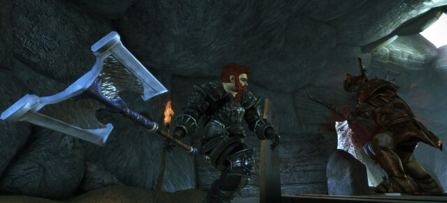 File:DAO Rumblings From Beneath - quest - Oghren fighting a Genlock Emissary.jpg
