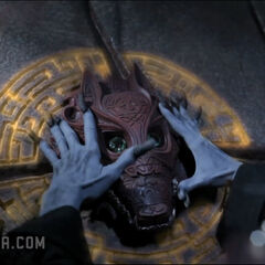 The Mask is placed on the altar