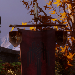 Free Marches banner with crown