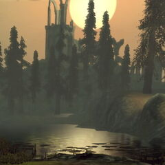 The surrounding land