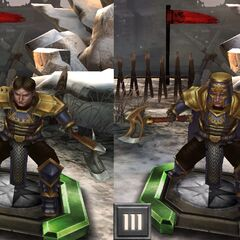 Tier progression of Grey Warden Sigrun in <i>Heroes of Dragon Age</i>