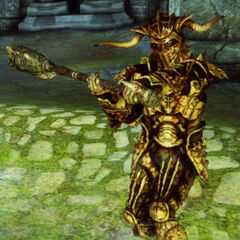 A hurlock alpha attacks in <i>Dragon Age: Origins</i>