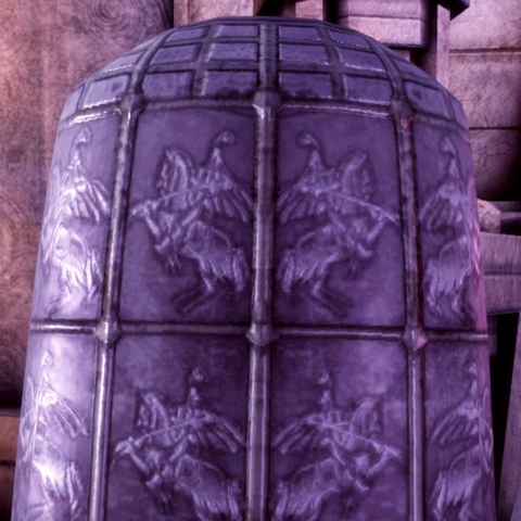 Chantry symbols on the back of the helmet