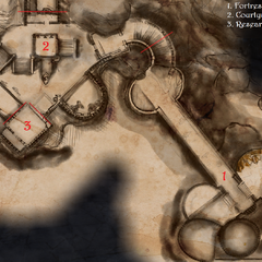 Map - outside the keep