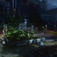 Winter Palace Exterior Garden overview