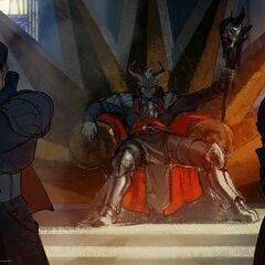 Qunari male Inquisitor as a <a href=