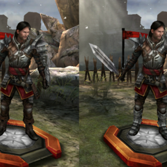 Tier progression of Samson as a Templar in <i><a href=