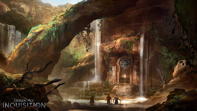 File:Inquisition concept art - rocks and water.jpg
