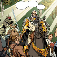 Alistair and Maric confront Isabela, Varric and Maevaris in the Fade