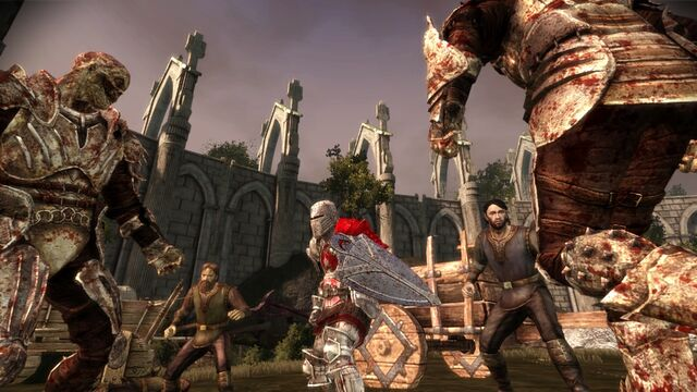 File:DAO Desperate Haven quest Alistair saving the Refugees from Darkspawn.jpg