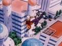 Goku hits cooler
