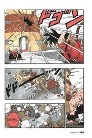 Goku throws Demon King Piccolo into a building