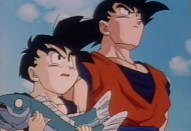 File:Gohan with fish2.png