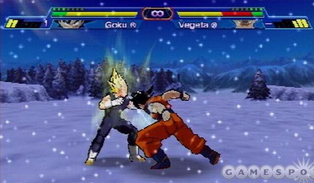File:Vegeta VS Goku Shin Budokai snow.jpg
