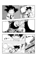Goku falls asleep from the Sleepy Boy Technique