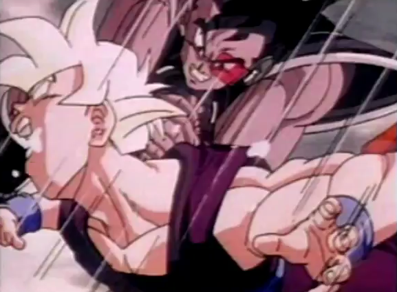 File:Turles his gohan in the neck truning his eyes wittie and makeing him cough up spit.png