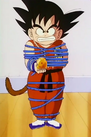 File:Kid goku all tied up in rope.png