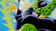 Gohan attacks Cell