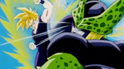 Gohan attacks Cell