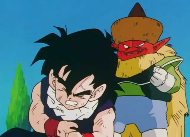 File:Gohan grabing his arms around his stomach.png