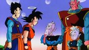 Gohan,Goku,SupremeKai,KibitoAndOldKai