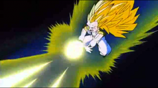 Gotenks attack Buu