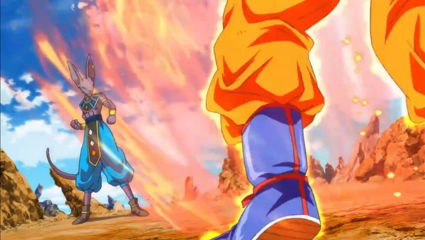 Dibujo De Goku Super Sayayin Dios Fase 5 Pintado Por En: Imagen - Bills Vs Goku SSD.png