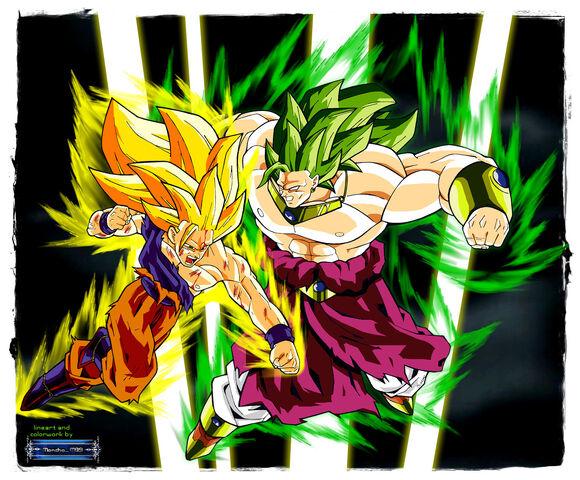 File:Goku ss3 vs broly ss3 by moncho m89.jpg