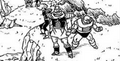 DXRD Caption of Appule's race, Kanassan & other bulky PTO soldiers - Revival of F manga chapter 2