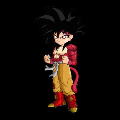 File:Goku Jr SSJ4 Version 2 by SpongeBoss.png
