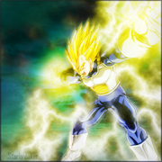 Final Flash Vegeta by Hycanithe
