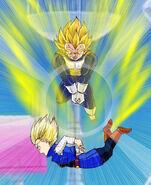 Dragon Ball Multiverse(Future Vegeta-Super Saiyan) Attacking Android 18