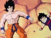 Goku and Gohan beat be vegeta
