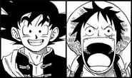 Luffy and Goku