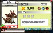 Dragon City - Quake Dragon lvl 4 on 5-14-14