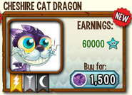 Cheshire Cat Dragon in store