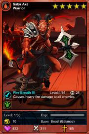 Satyr Axe Warrior